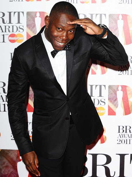 Dizzee Rascal arriving for the 2011 Brit Awards