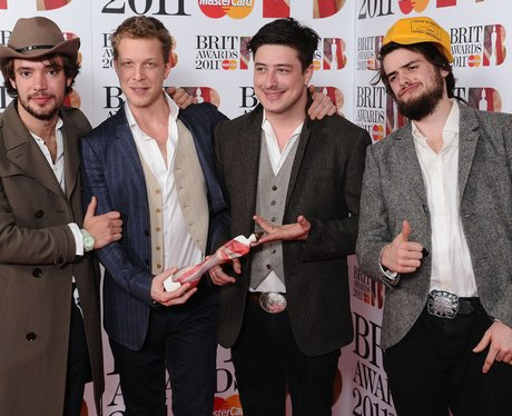Mumford and Sons at the BRIT Awards