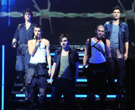 The Wanted perform live on their UK tour.