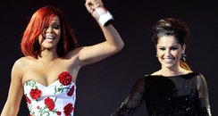 Cheryl Cole and rihanna