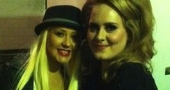 Christina Aguilera and Adele on Twitter