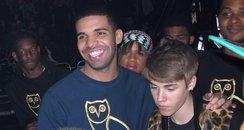 Justin Bieber with Drake