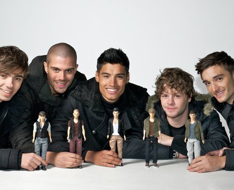 The Wanted show of their new dolls