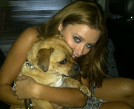 Una Healy with her pet dog