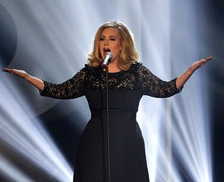 Adele performs at the BRIT Awards