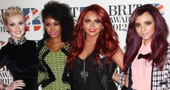 Little Mix arrives at the BRIT Awards 2012