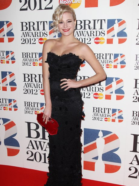Pixie Lott arrives at the BRIT Awards 2012