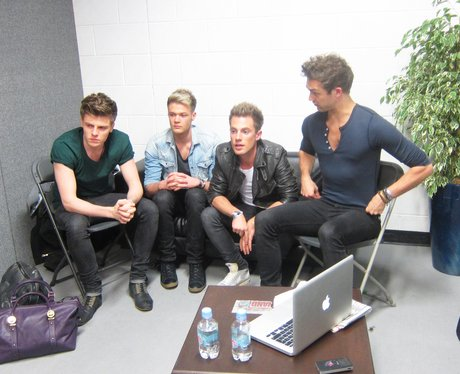 Lawson backstage at the Sumemrtime Ball 2012
