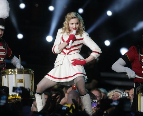 Madonna performs on 'MDNA' world tour
