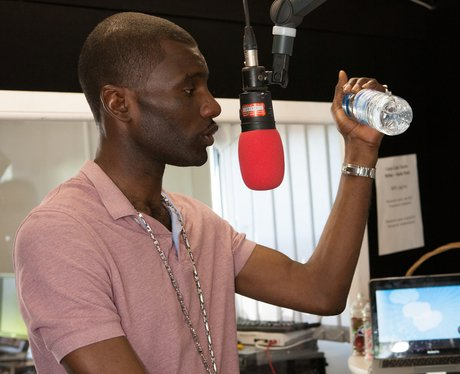 Wretch 32 backstage at the Olympic Torch Relay