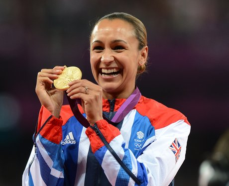 Jessica Ennis With Her Gold Medal
