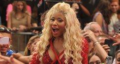 Nicki Minaj is mobbed by fans