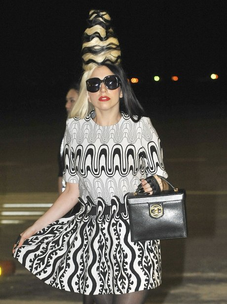Lady Gaga arrives at Taiwan's airport.