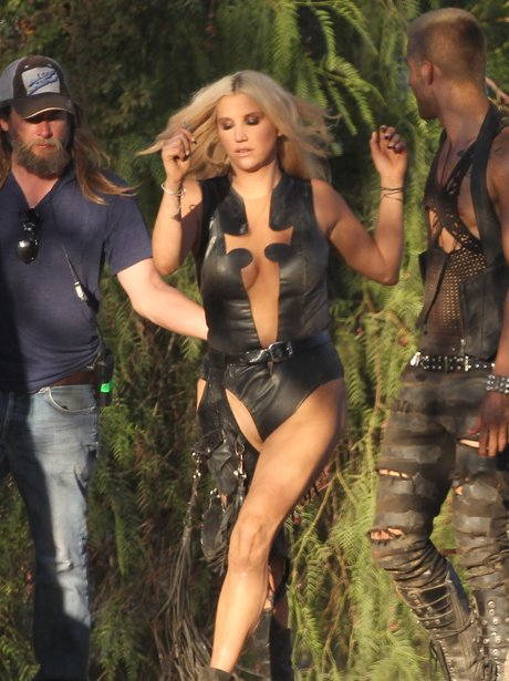 Ke$ha filming her new video 'Die Young'