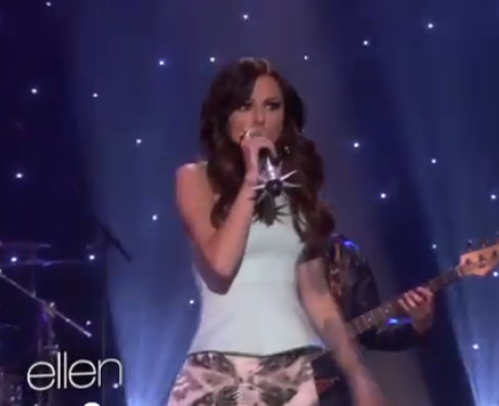 Cher Lloyd performs on The Ellen Show.