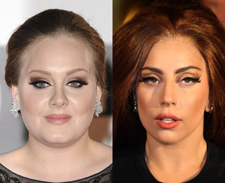 Adele and Lady Gaga