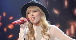 Taylor Swift performs on the American X Factor