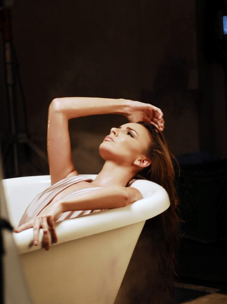 Girls Aloud's Nadine Coyle in bath