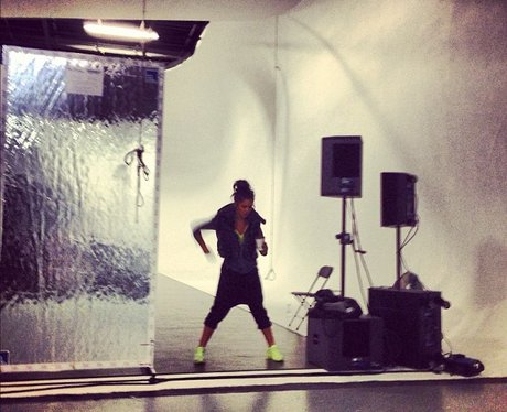Cheryl Cole rehearsing for the Jingle Bell Ball