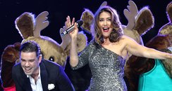 Lisa Snowdon and Dave Berry at the Jingle Bell Bal