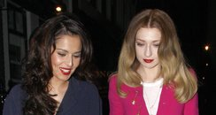 Cheryl Cole and Nicola Roberts out for dinner