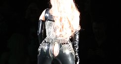 Lady Gaga splits trousers on stage