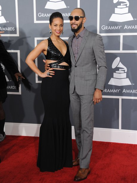 Alicia Keys and Swizz Beatz arrive at the Grammy A