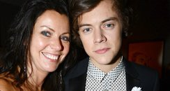 Harry Styles and his mum at BRIT 2013 after party