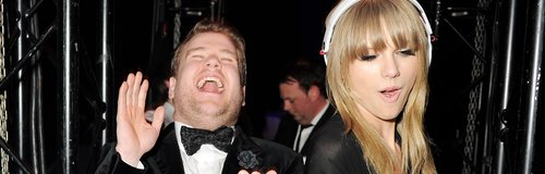 James Corden and Taylor Swift  BRITS after party