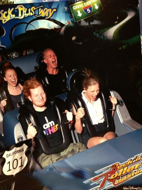 Ed Sheeran anf Taylor Swift rollercoaster
