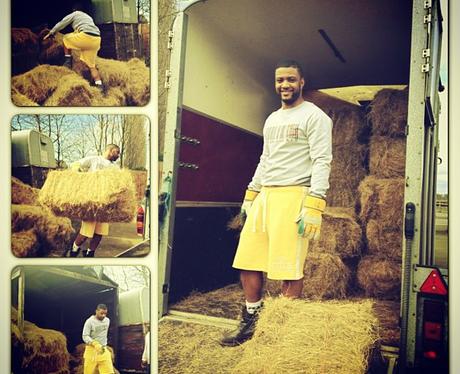 JB on his farm in Kent