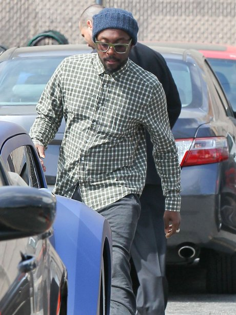 Will.i.am in Hollywood wearing a plaid shirt