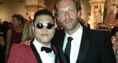 PSY and Chris Martin