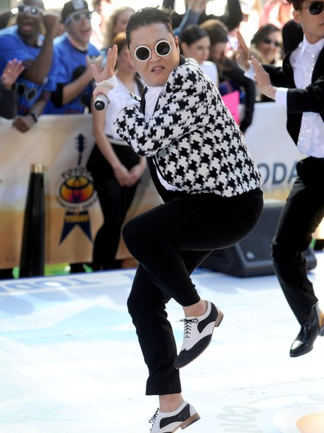 Psy dancing on the set of the Today Show