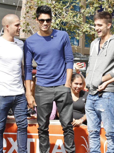 The Wanted smiling in Los Angeles