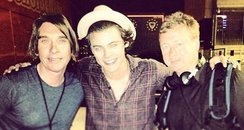 Harry Styles with film crew from Instagram