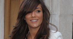 Frankie Sandford shows off her new long hair