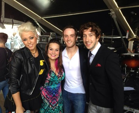 Amelia Lily backstage at North East Live 2013