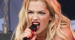 Rita Ora performing at Glastonbury