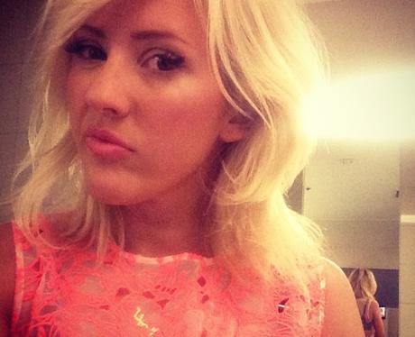 Ellie Goulding pulls a sad face