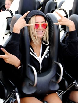 Beyonce on a rollercoater