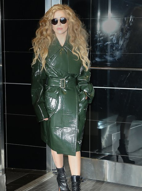 Lady Gaga Rocks A Leather Jacket While Preparing For MTV ...