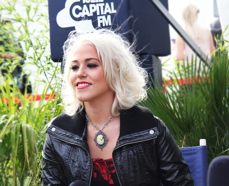 Amelia Lily during her Capital FM radio interview backstage at Fusion Festival 2013