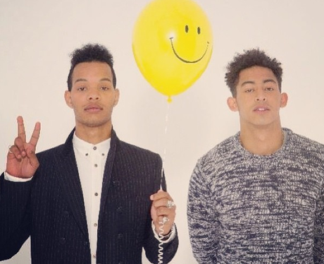 Rizzle kicks hold up a balloon in a new press shot