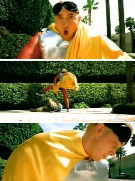 Eminem in a bum costume