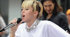 Miley Cyrus performs on the today show