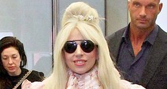 Lady Gaga at the airport