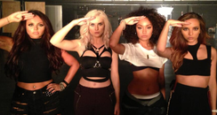 Little Mix promoting their Salute wordsearch