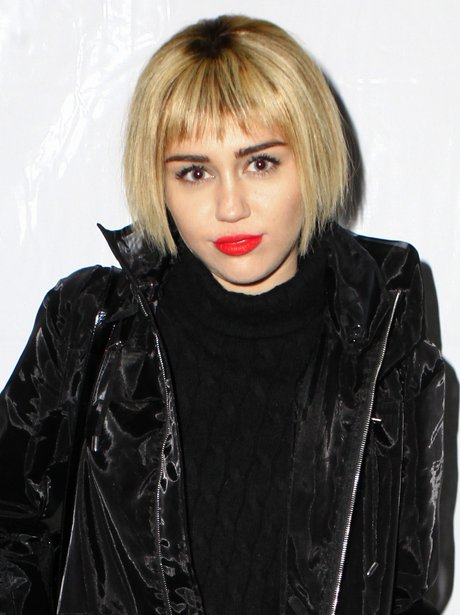 Miley Cyrus with a bob