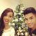 15. Newly engaged The Wanted star Siva poses with fiance Nareesha...and their tree!